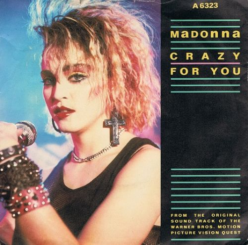 "MADONNA Crazy For You 7"" Single Vinyl Record 45rpm Geffen 1985."